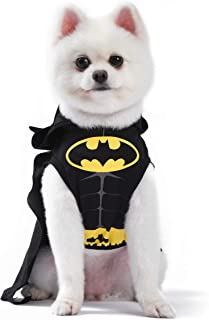 DC Comics Batman Dog Costume | Hooded Superhero Costume for Dogs | Dog Halloween Costume, Large