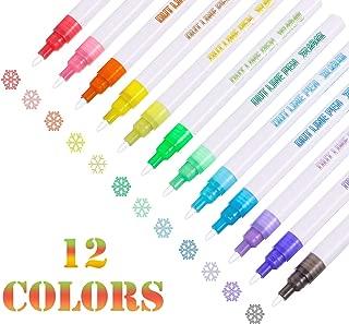 Set de bol/ígrafo y pluma de cristal con dise/ño de estrellas R-Weichong Dip Pen color Mehrfarbig