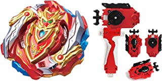 Bey Burst Blade Evolution God Bey Battle Booster Starter Gyro Bay Battle Burst B-129 Cho-Z Achilles.00DM Balance Starter Game Toy Bey Set Battling Top Novelty Spinning Toy+ Grip(Style C)