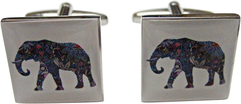 Colorful Elephant Pendant Cufflinks