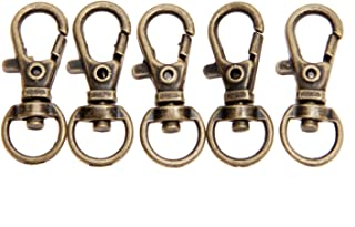 20Pcs Antique Bronze Swivel Lobster Clasp Clips Key Hook for Key Ring Keychain Making