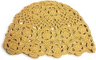 MARZE Hats for Women Handmade Beanie Crochet Knit Kufi Hat Flower Skull Cap Hair Accessories 100% Handmade