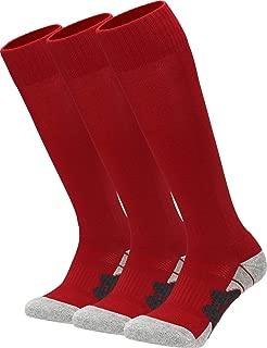 APTESOL Youth Soccer Socks for Kids Adult Knee High Team Sport Boys Girls Combed Cotton Bottom Tube Socks
