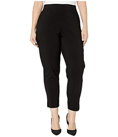 HUE Plus Size Temp Tech Trouser Leggings (Black) Women