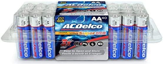 ACDelco 40-Count AA Batteries, Maximum Power Super Alkaline Battery