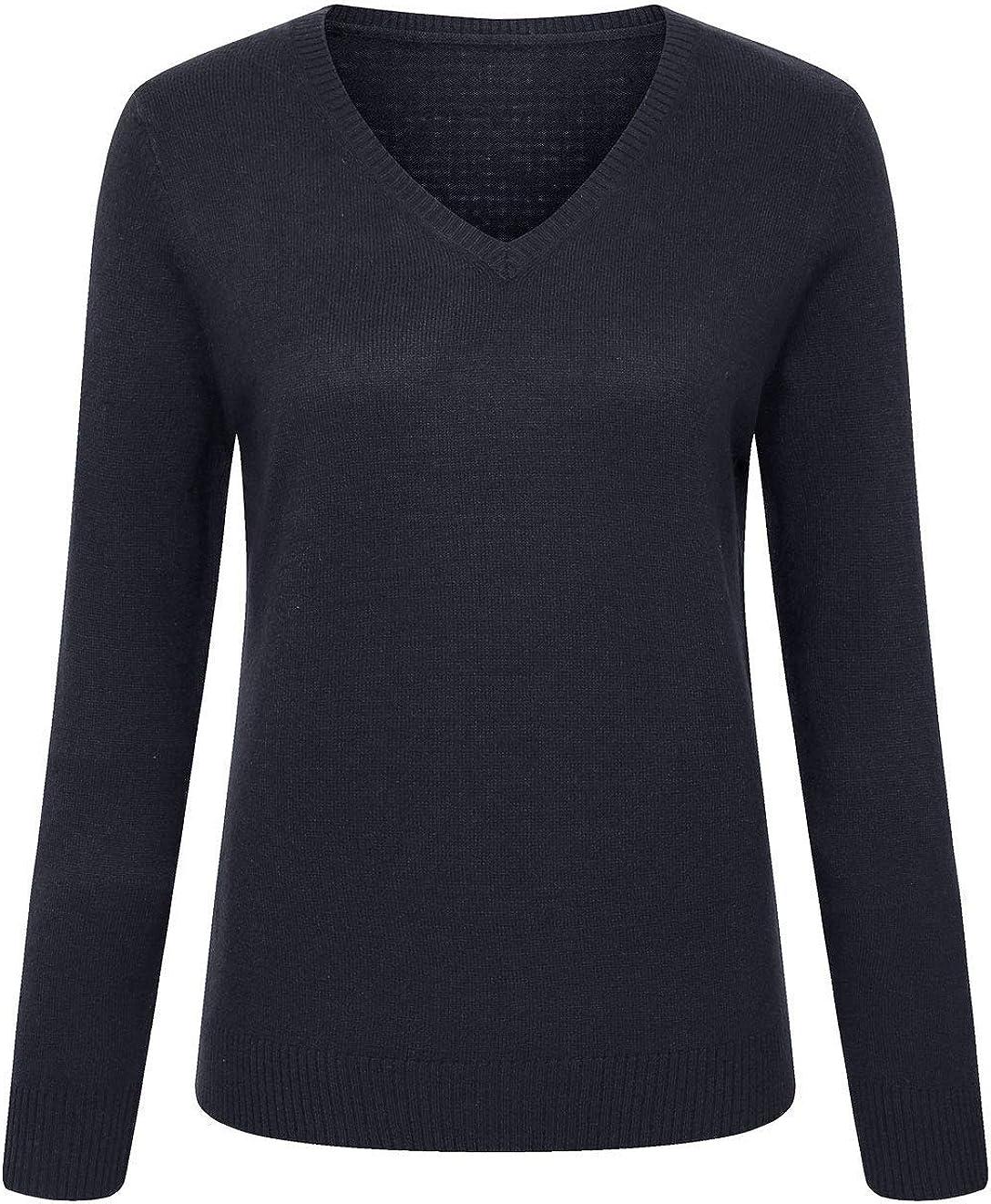 CHARTOU Women's Sexy V-Neck Pullover Knitwear Cashmere-Like Max 72% OFF unisex Swea