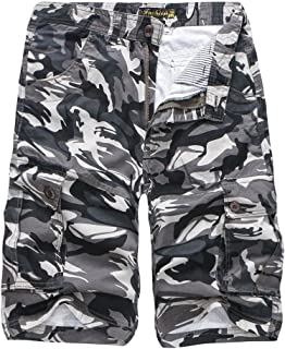 iZHH Men's Camouflage Outdoors Pocket Beach Work Trouser Cargo Shorts Pant