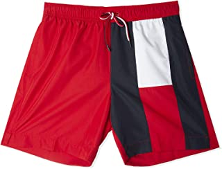 Tommy Hilfiger Archive Flag Medium Drawstring Swim Shorts Tango red