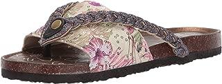 MUK LUKS Women's Elaine Terra Turf-Pink Multi Sandal