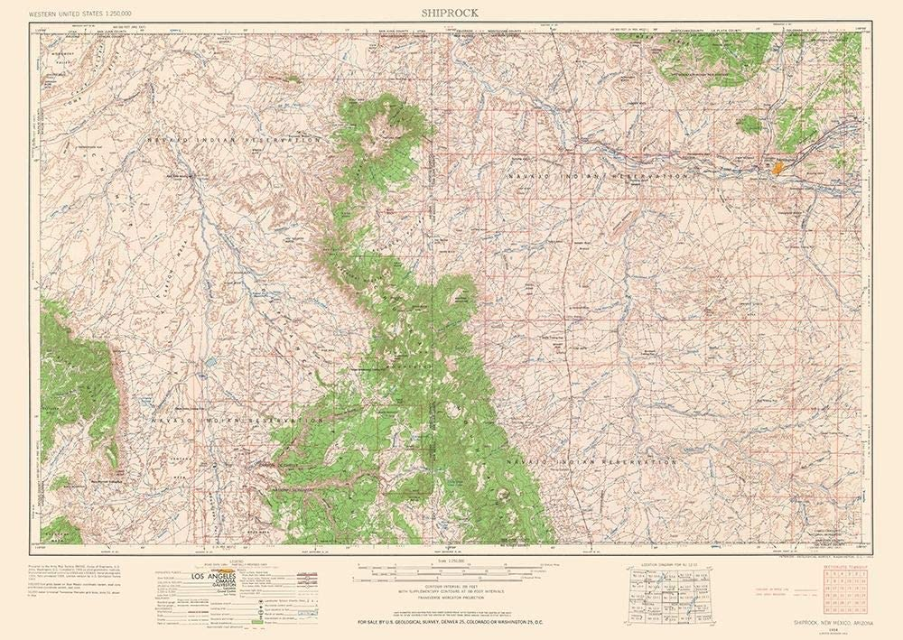 Posterazzi PDXNMSR0001SMALL Shiprock Discount mail order New Mexico USGS Quad P 1963 Spring new work one after another