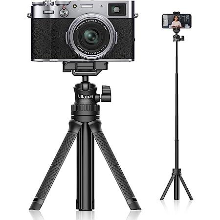 【2021進化版】Ulanzi MT-34 カメラ三脚 軽量 自撮り棒 ミニ三脚 卓上 スマホ三脚 セルカ棒 スマートフォン用三脚 360度回転 6段伸縮 ビデオカメラ ボール雲台 持ち運びに便利 iPhone12 /Android/スマホ/カメラ/gopro/ Pocket1 2/ アクションカメラに対応