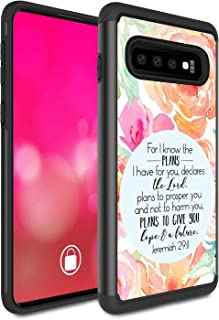 Galaxy S10 Case, Rossy Heavy Duty Hybrid TPU Plastic Dual Layer Armor Defender Protection Case Cover for Samsung Galaxy S10 6.1-inch 2019,Bible Verse Jeremiah 29:11