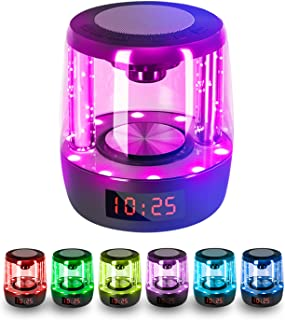 $27 » Sponsored Ad - Portable Bluetooth Speaker, Wireless Speaker with Colorful Lights, 7 Colors for Night lamp, Touch Control t...