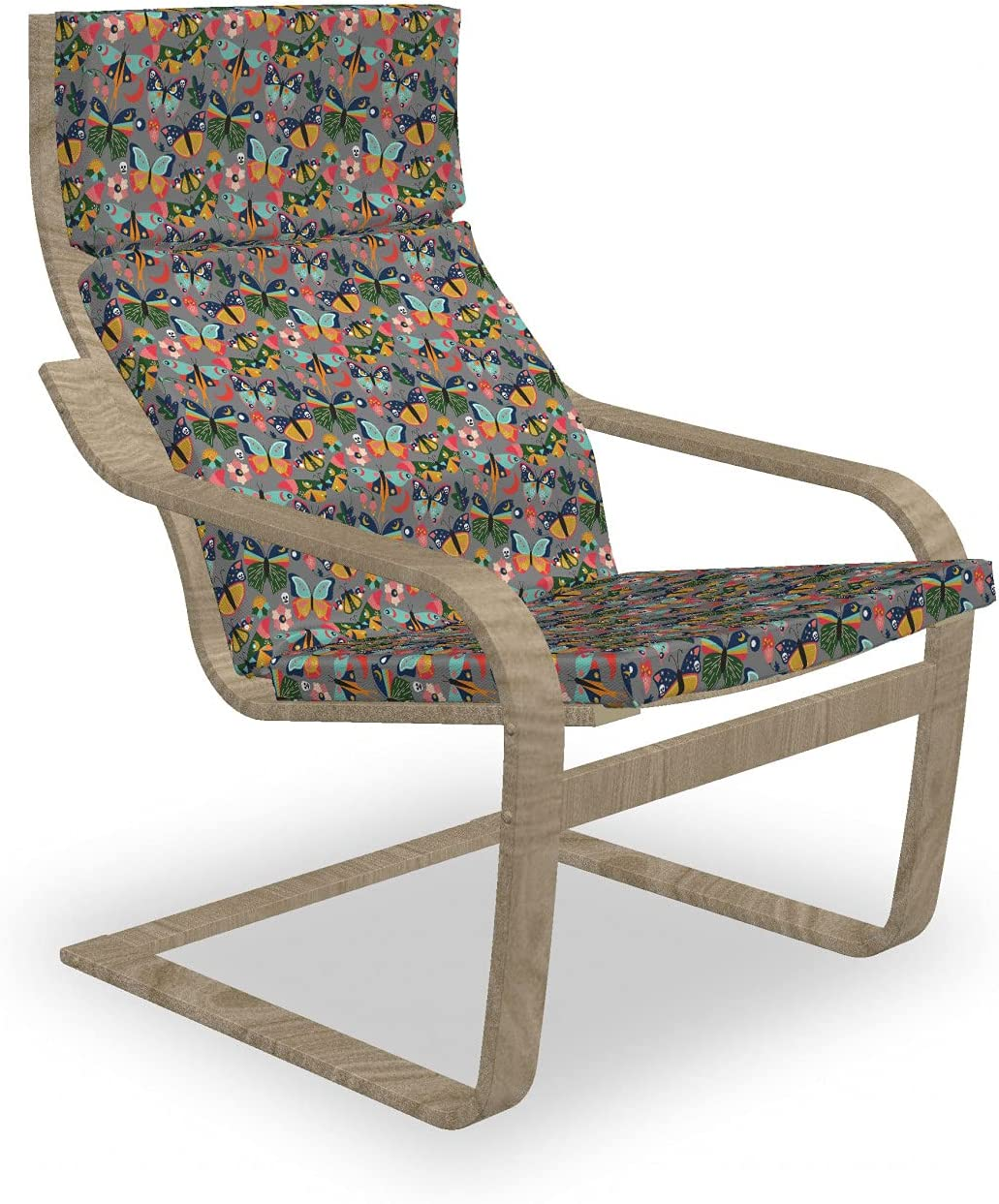 Ambesonne Moth Armchair Pad and Slipcover Skul Butterflies with Reservation A surprise price is realized