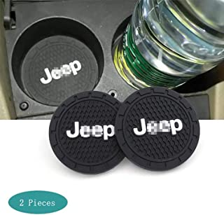 SHENGYAWAUTO Car Interior Accessories Cup Holder,Anti Slip Cup Mat Insert for Grand Cherokee, Wrangler, Compass, Patriot 2 Packs,2.75 inch