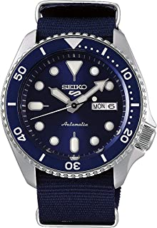 5 Sports Blue Dial Canvas Strap Automatic Men's Watch SRPD51K2 Mens Watches