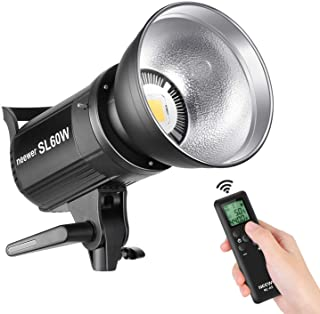 Neewer SL-60W LED Video Light White 5600K Version, 60W CRI 95+, TLCI 90+ with Remote Control and Reflector, Continuous Lighting Bowens Mount for Video Recording,Children Photography,Outdoor Shooting