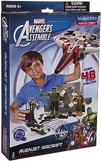 HTS Marvel Blueprints - Avengersr Vehicle Pack Avenjet Aircraft Paper Craft Assemble