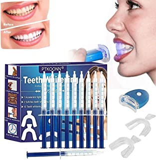Teeth Whitening Kit,Home Teeth Whitening Kit,Teeth Whiten Gel Kit,White Dental Care GEL Tooth Bleaching Kit,Reusable Dental Whitening Kit,Teeth Whitening to Yellow Teeth and Smoke Marks Black Teeth