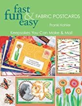 quilted fabric postcards
