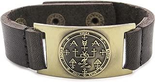 1000K' ways Designs Archangel Uriel Sigil Bracelet, Leather, Adjustable