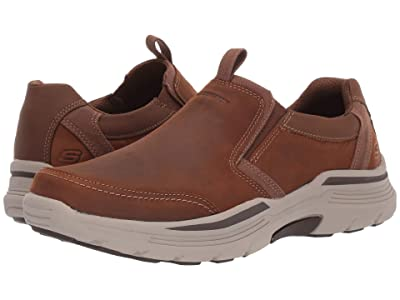 SKECHERS Relaxed Fit Expended Morgo (Dark Brown) Men