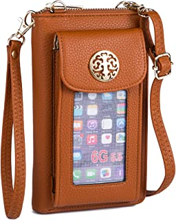 Heaye Crossbody Cell Phone Purse for Women Wristlet Wallet with Card Slots RFID