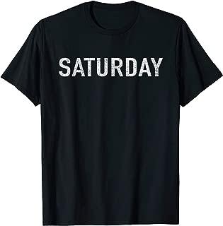 DAYS of the WEEK tshirt series 'SATURDAY' distressed