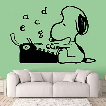 The Peanuts Movie Cartoon Character Fun Look Life Better with You Size 10x10 inch Snoopy Wall Decals for Kids Bedroom Vinyl Art Stickers Decal Childrens Rooms Snoop Dog Boys Room Decor