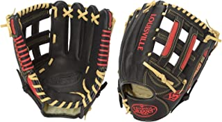 Louisville Slugger Omaha S5 Infielder's Glove, Left, Black/Scarlet, 11.75
