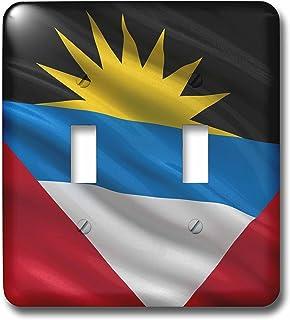 """3dRose lsp_178798_2"""" bandera de Antigua y Barbuda saludando en el viento interruptor de palanca"""