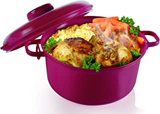 Handy Gourmet MICROMASTER PRSR COOKER, medium, Burgundy