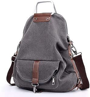 SUNNY SHOP Laptop Travel Backpack For Women Travel Shoulder Bag Canvas School Backpack Waterproof Lightweight K-1382