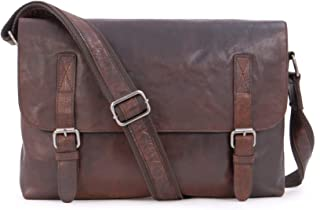 Ashwood Vintage Leather Messenger Shoulder Bag - F85 - Office College University - Laptop Friendly - Brandy