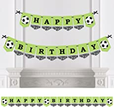 Big Dot of Happiness Goaaal - Soccer - Birthday Party Bunting Banner - Sports Party Decorations - Happy Birthday