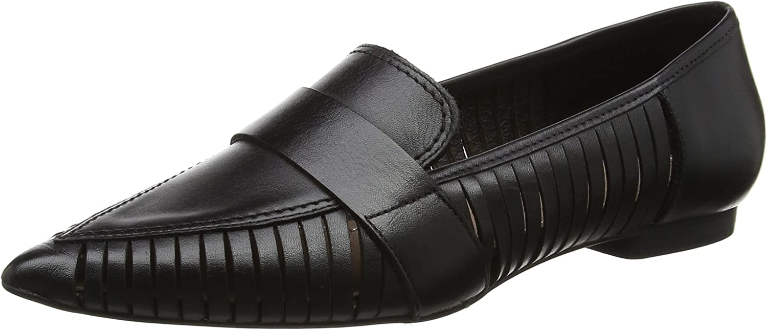 H By Hudson Women's Clara Leather Loafers Black
