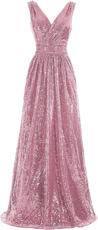 Kate Kasin Women Ranking TOP18 Sequin Bridesmaid Dress Maxi Evening Sleeveless National products