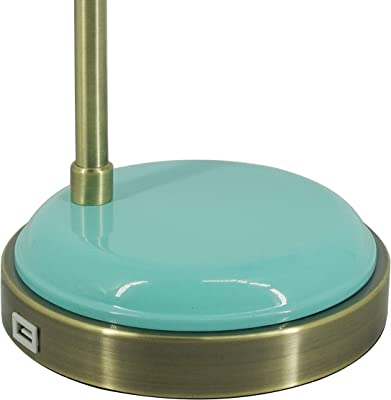 Simplee Adesso Teal Desk Lamp with USB (SL3703-21)