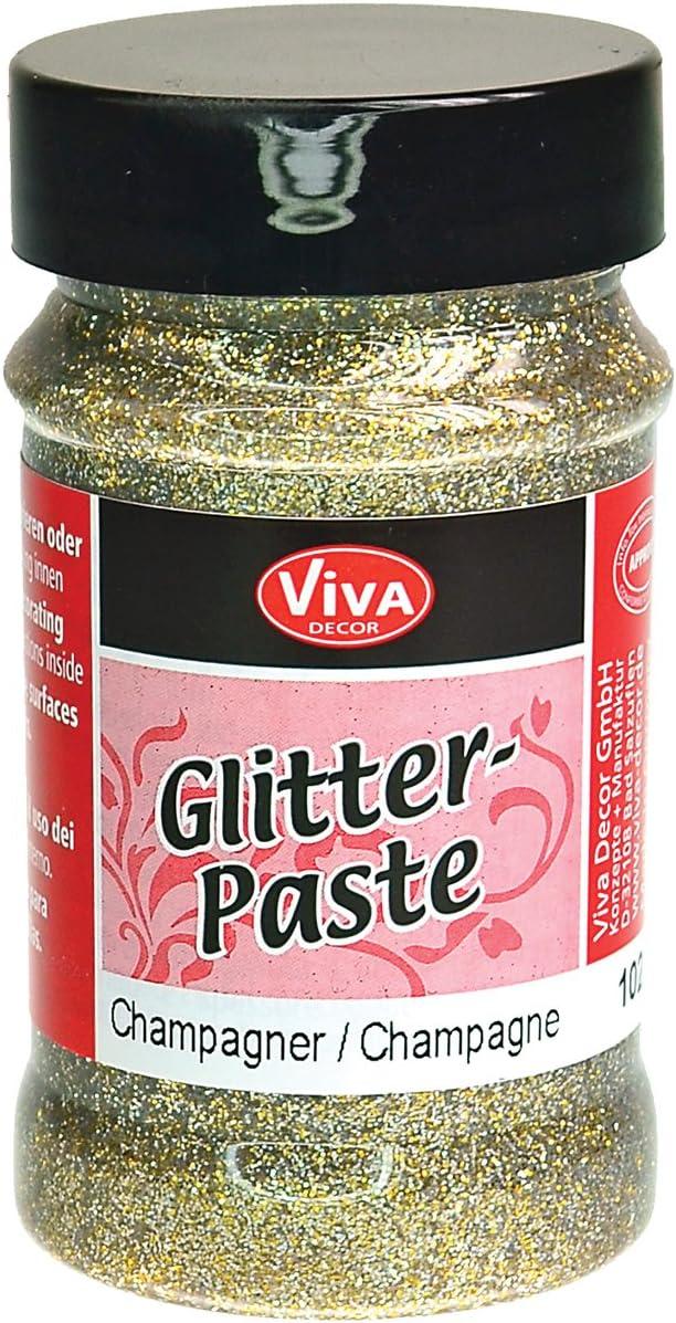 Viva Decor Glitter Paste, 90ml, Champagne