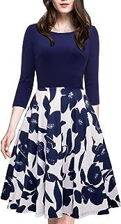 Women's 1950s Vintage Elegant Cap Sleeve Swing Party Dress A009