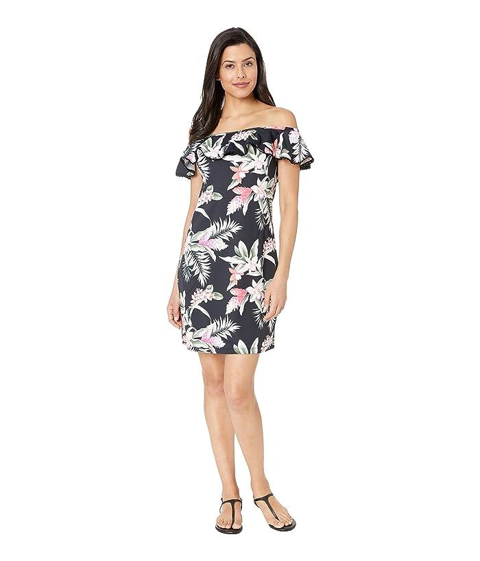 Tommy Bahama Gingerflower Ruffle Spa Dress (Black) Women