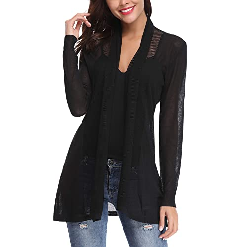 b43030d1be1 Abollria Womens Casual Long Sleeve Open Front Cardigan Sweater