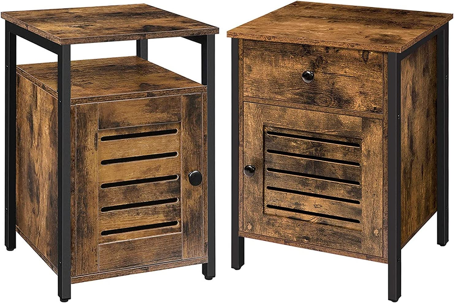 Max 45% OFF Japan Maker New Nightstand and End Table Bundle Storage with Cabinet