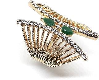部落吉普赛波米亚风景绿宝石戒指尺寸:17、18、19、20