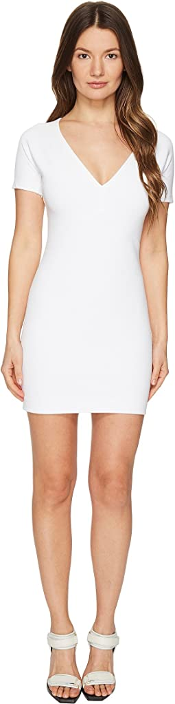 Viscose Piquet Jersey Short Sleeve Dress