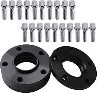 GDSMOTU 4pc Hubcentric Wheel Spacers for BMW 5 Lug, 20mm Wheel Spacers 5x120 for BMW E82 E88 E30 E36 E46 E90 E91 E92 E93 E28 E34 E24 E63 E64 E23 E32 E38 E31 with 12x1.5 Studs(40mm Shank, Cone Seat)