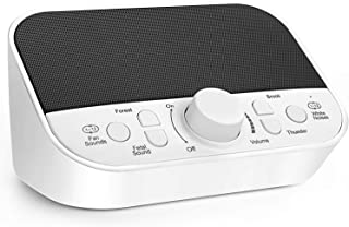 LATME White Noise Machine with 28 High Fidelity Non-Looping White and Fan Noise Sounds,Nature Sounds,4 Sleep Timer Portable Sound Therapy for Baby Kids Adults Home,Office or Travel (White-Grey)
