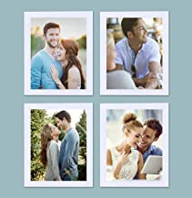 Art Street Set of 4 Individual White Wall Photo Frames Wall Decor Free Hanging Accessories Included || 4 Unit 8x10 inches||