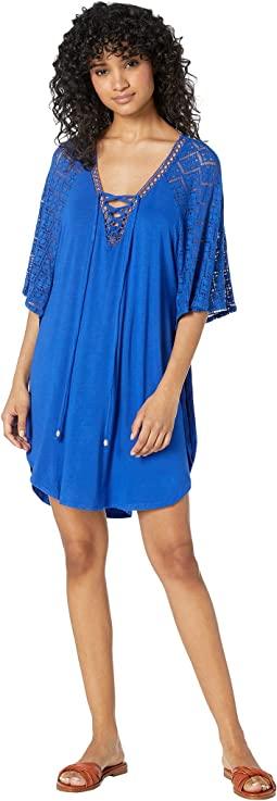 Paradise Solids Poncho Cover-Up