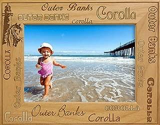 Outer Banks OBX North Carolina Laser Engraved Wood Picture Frame (5 x 7)